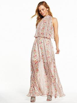 V By Very Petite Tiered Woven Maxi Dress