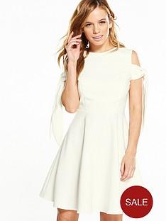 v-by-very-petite-tie-sleeve-skater-dress