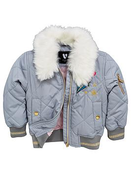 mini-v-by-very-girls-faux-fur-trim-badge-bomber-jacket