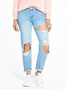 miss-selfridge-extreme-rip-slim-boyfriend-jeans-blue