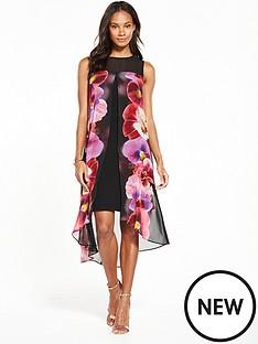 wallis-pansy-split-front-dress