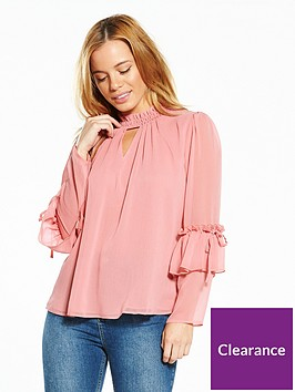 v-by-very-petite-high-neck-ruffle-blouse-soft-pink
