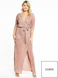 v-by-very-curve-plisse-wrap-maxi-dress