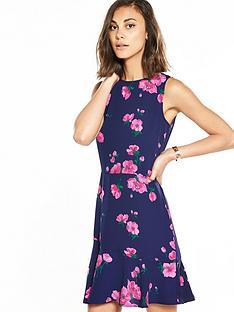warehouse-delia-flower-print-dress