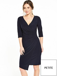 wallis-petite-mock-wrap-dress