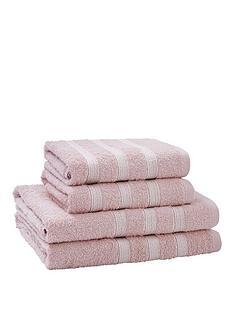 catherine-lansfield-4-piece-sparkle-band-towel-bale-pink-buy-1-get-1-free
