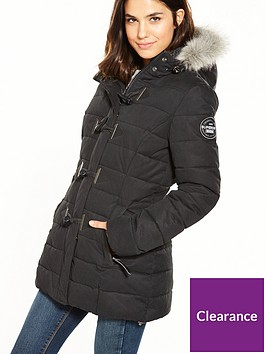 caacee99f385 Superdry MF Toggle Puffle Jacket - Black