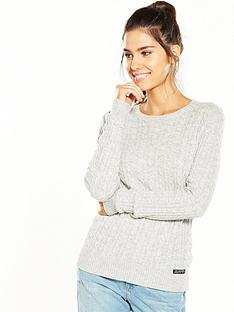 superdry-luxe-mini-cable-knit-grey-marl