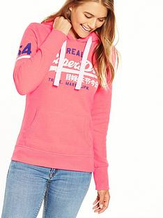 superdry-vintage-logo-entry-hood-fluoro-pink