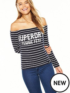 superdry-graphic-bardot-top
