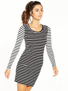 superdry-stripey-long-sleeve-dress