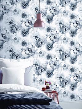 ARTHOUSE Arthouse Diamond Bloom Floral Mono Wallpaper Picture