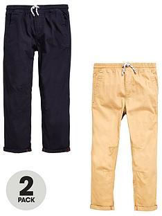 v-by-very-boys-tie-waist-trousers-blacktan-2-pack