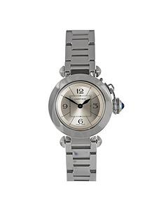 cartier-cartier-preowned-pasha-silver-dial-stainless-steel-ladies-watch-ref-2973