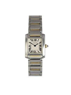 cartier-pre-owned-tank-francaise-off-white-dial-bimetal-ladies-watch-ref-2384