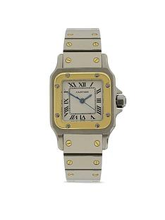 cartier-cartier-preowned-santos-automatic-white-dial-stainless-steel-ladies-watch