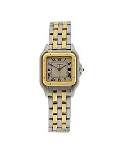 cartier-cartier-preowned-panthere-off-white-dial-bimetal-mens-watch-ref-110-000r