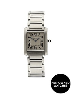 cartier-cartier-preowned-tank-francaise-off-white-dial-stainles-steel-midsize-watch-ref-w51011q3
