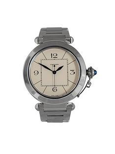 cartier-cartier-preowned-pasha-off-white-dial-stainless-stell-mens-watch-ref-2730
