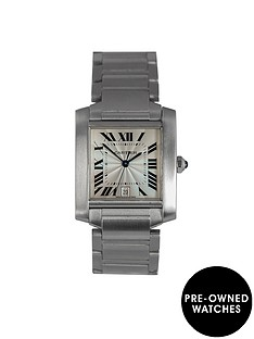 cartier-preowned-francaise-off-white-dial-stainless-steel-mens-watch-ref2302