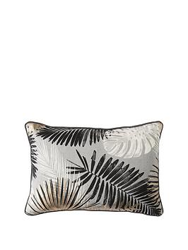 Gallery Gallery Monochrome And Gold Palm Leaves Cushion Picture