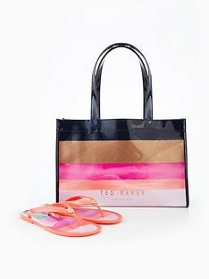 ted-baker-ted-baker-marina-mosaic-icon-shopper-with-flip-flop