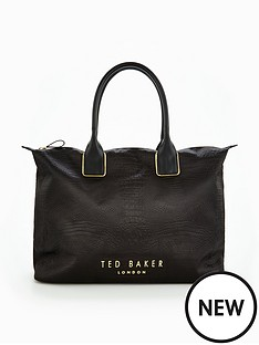ted-baker-exotic-detail-large-tote-bag-blacknbsp