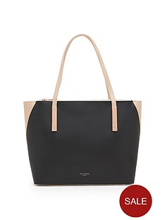 ted-baker-colour-block-large-leather-shopper-black