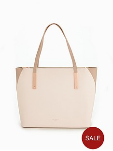 ted-baker-colour-block-large-leather-shopper-straw