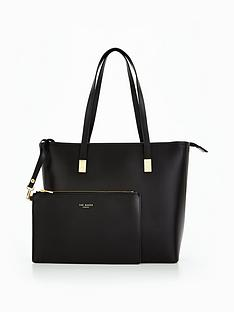 ted-baker-zip-grain-leather-large-shopper-blacknbsp
