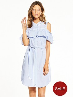 vero-moda-flounce-cold-shoulder-dress