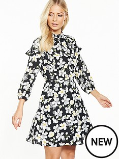v-by-very-high-neck-ruffle-shoulder-skater-dress