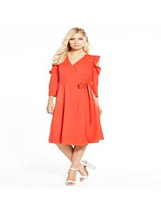 v-by-very-cold-shoulder-frill-midi-shirt-dress
