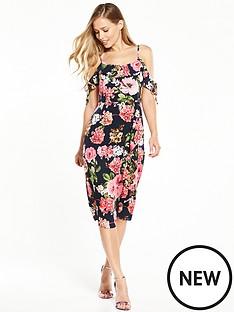v-by-very-frill-front-midi-dress