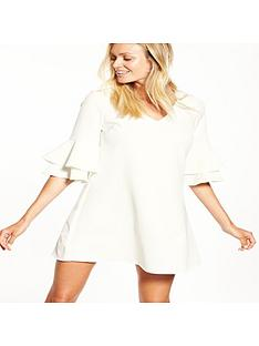 v-by-very-v-front-ruffle-sleeve-tunic-dress