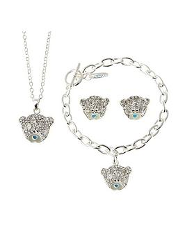 Me To You Me To You Tatty Teddy Silver Plated Crystal Set Pendant Earrings And Bracelet Set