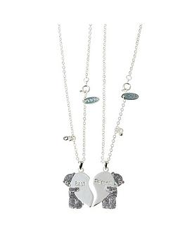 Me To You Me To You Tatty Teddy Silver Plated Crystal Set Best Friend Split Pendant Set