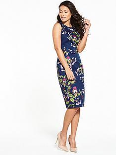 oasis-topaz-bird-pencil-dress