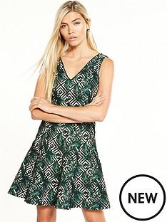 oasis-tropical-geo-jacquard-dress