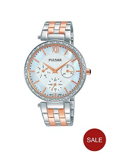 pulsar-white-multi-dial-swarovski-element-bezel-stainless-steel-bracelet-ladies-watch
