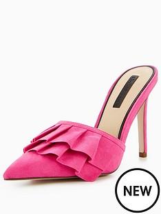 miss-selfridge-lonnae-frill-heeled-mule-shoe