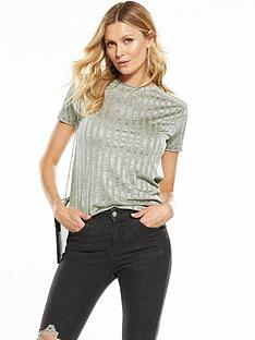 v-by-very-metallic-rib-jersey-top