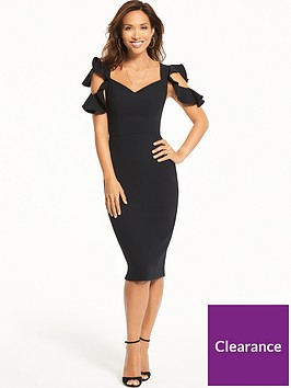myleene-klass-ruffle-sleeveless-dress-black