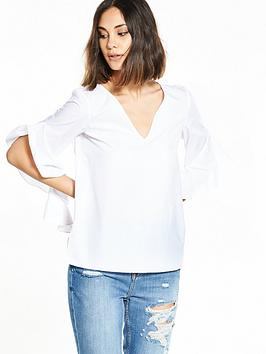river-island-white-frill-sleeve-top