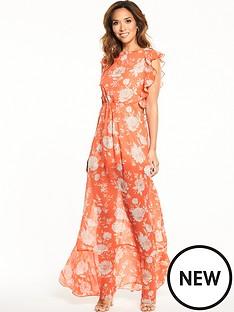 myleene-klass-ruffle-cut-out-maxi-dress