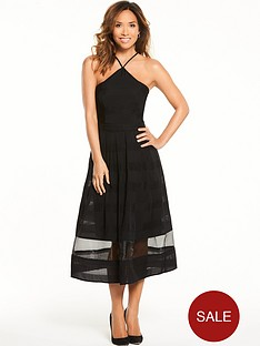 myleene-klass-organza-midi-dress-black