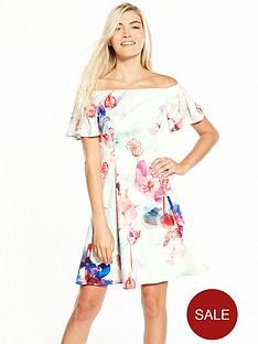 coast-azure-cotton-fit-n-flare-dress