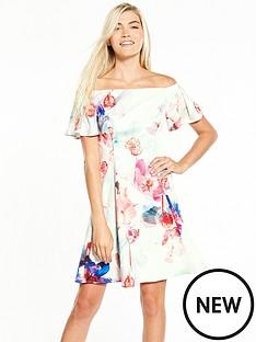 coast-coast-azure-cotton-fit-n-flare-dress