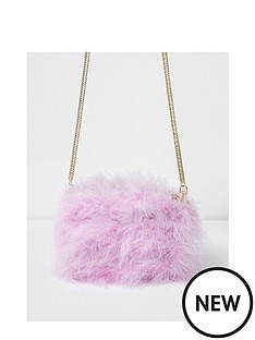 river-island-river-island-marabou-feather-crossbody-bag
