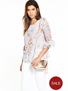 v-by-very-ruffle-front-floral-print-blouse